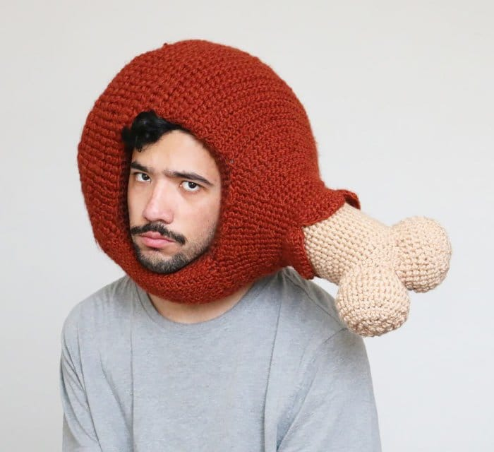 crochet chicken man