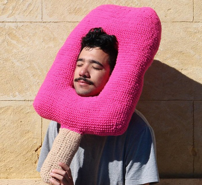 crochet ice lolly man