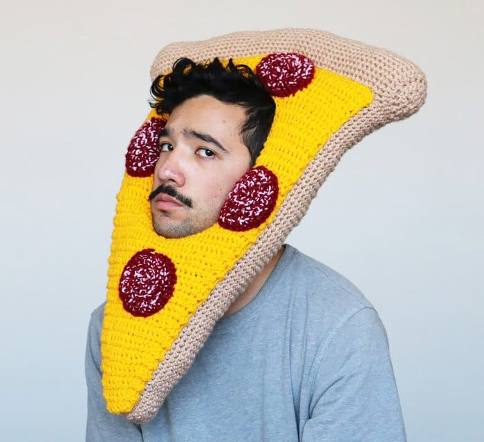 crochet pizza man
