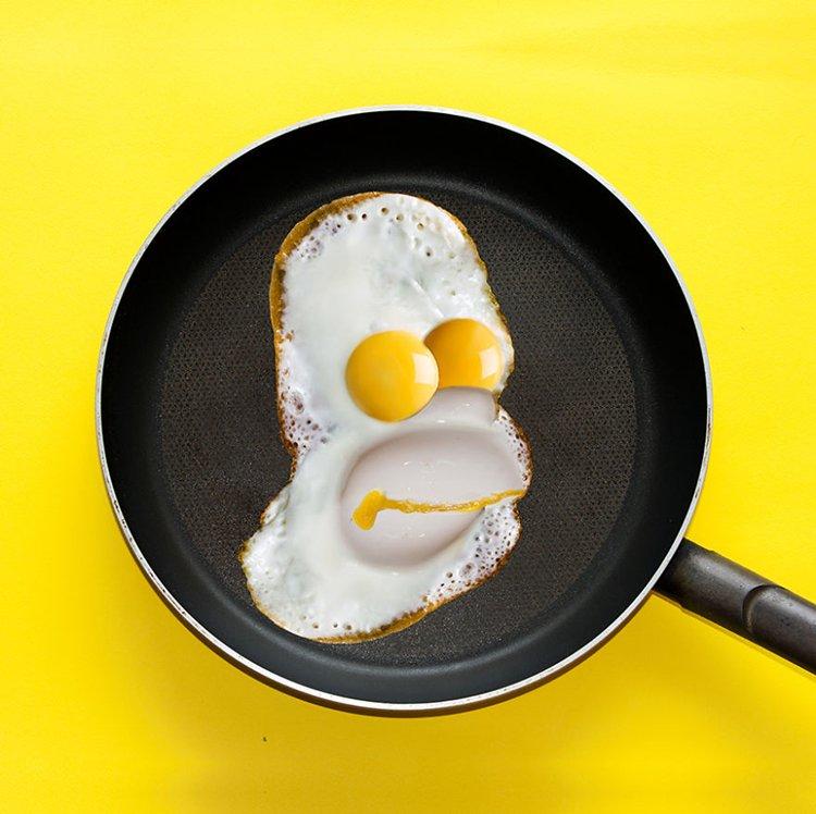 dan-cretu-fried-egg-homer-simpson