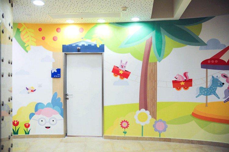 door colorful mural