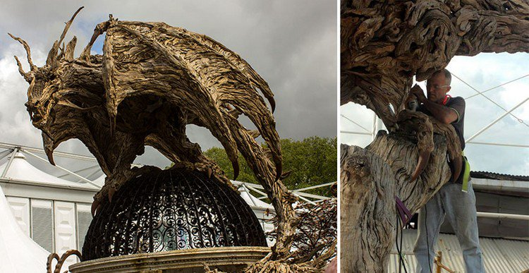 driftwood dragon sculptor