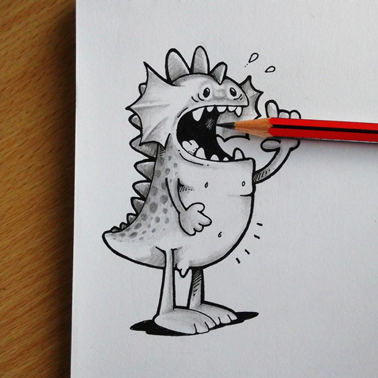 drogo eating pencil