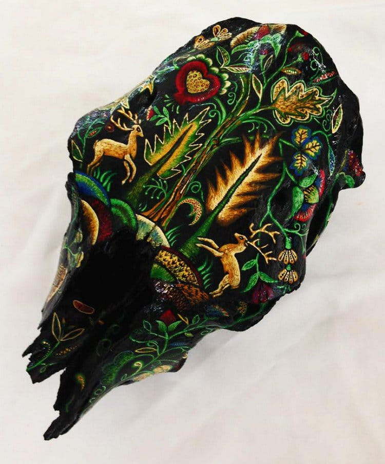 embroidery skull