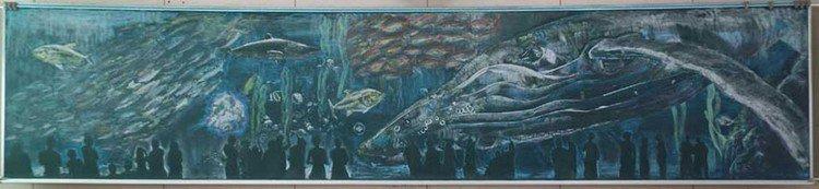 fish chalk art