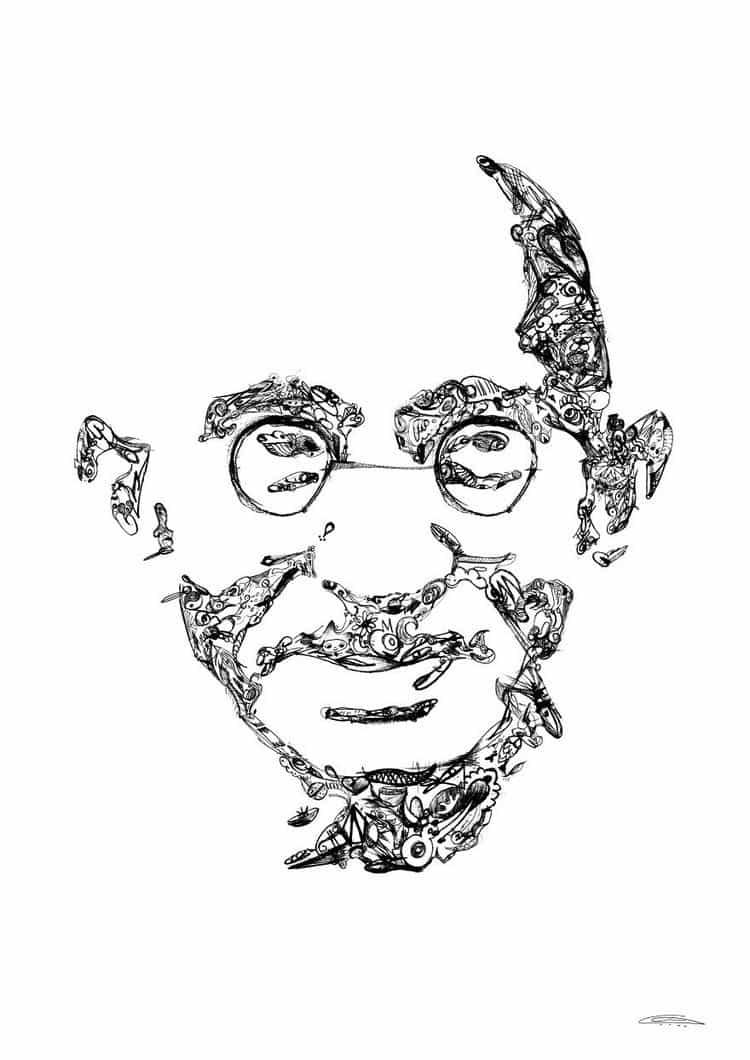 gandhi doodles