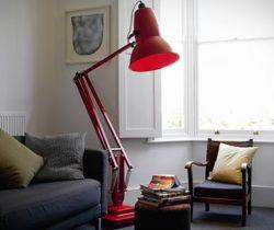 giant floor lamp red
