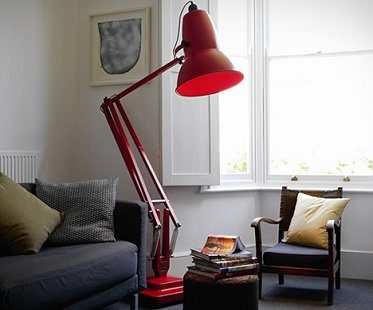 giant floor lamp red