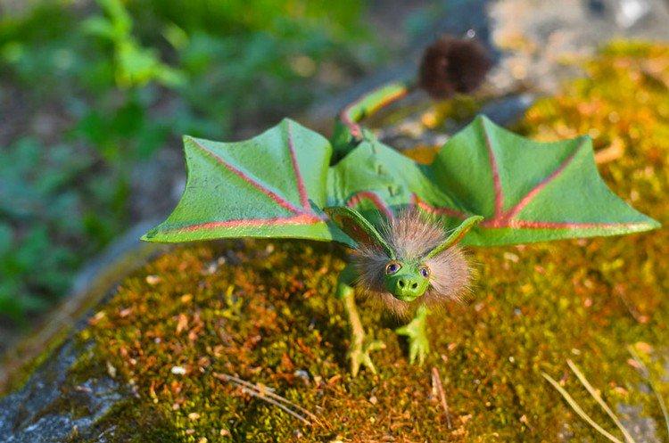 green hairy dragon