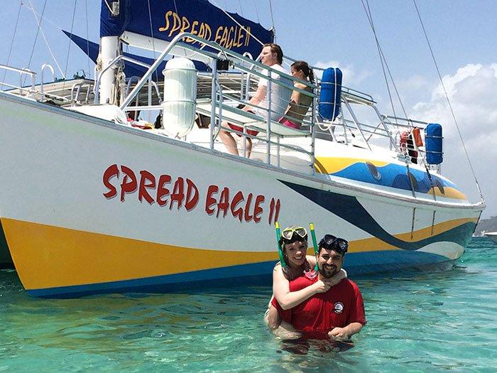 happy couple snorkel