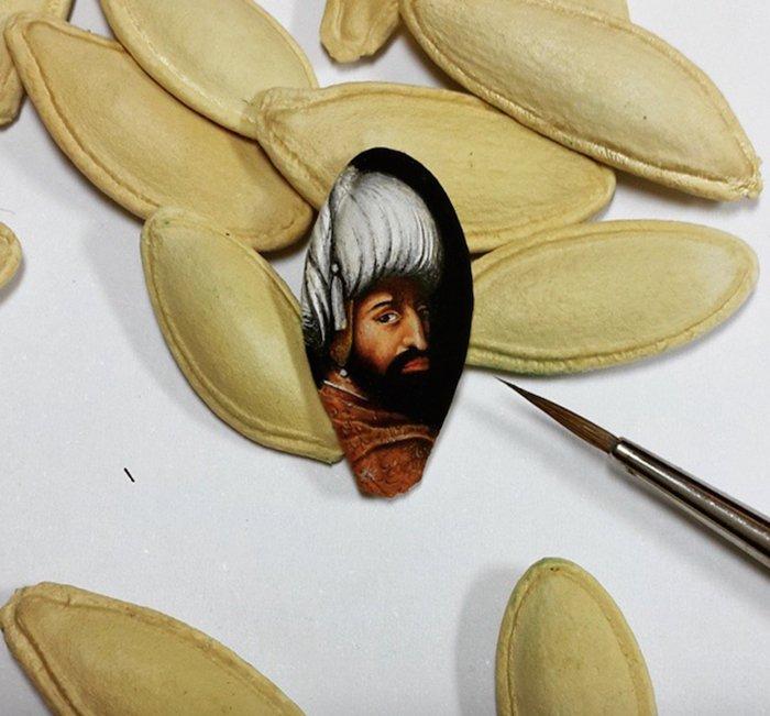 hasan-kale-miniature-paintings-pumpkin-seed