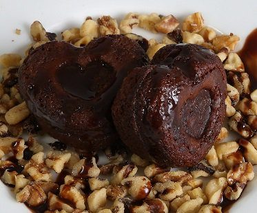 heart-shaped brownie maker treats