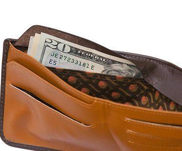 hidden pocket wallet leather