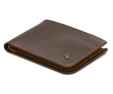 hidden pocket wallet leather brown
