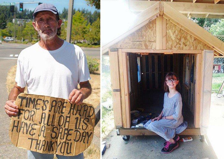 homeless guy girl