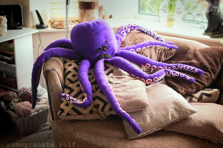 huge purple octopus