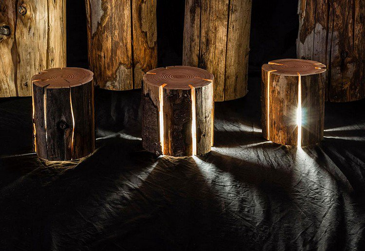 indoor log lamps