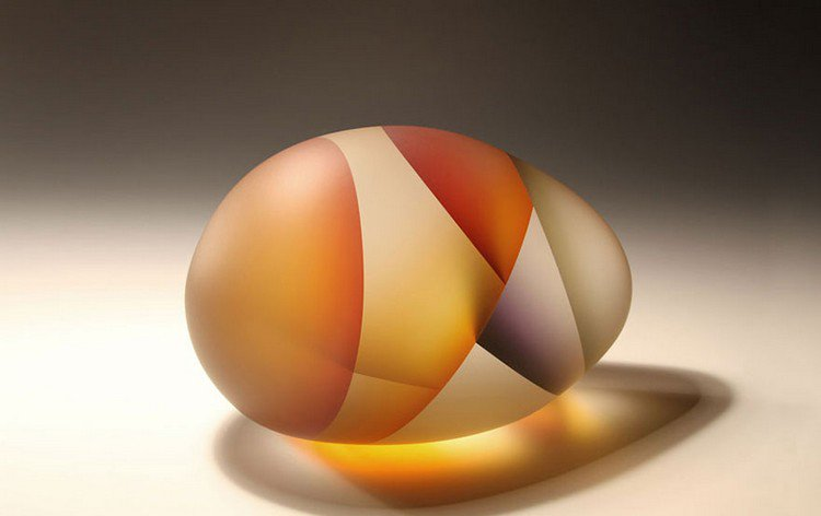 jiyong lee multi color egg sculpture