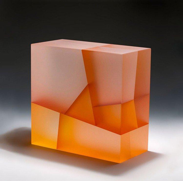 jiyong lee orange square sculpture