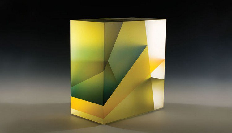 jiyong lee yellow square sculpture