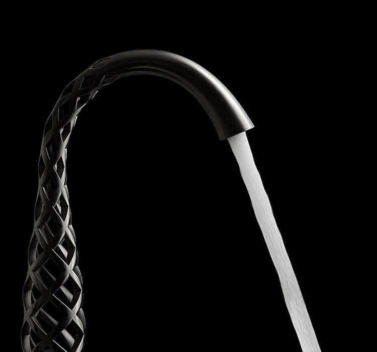 lattice 3D printed faucet water