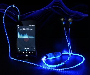 light up earphones flashing