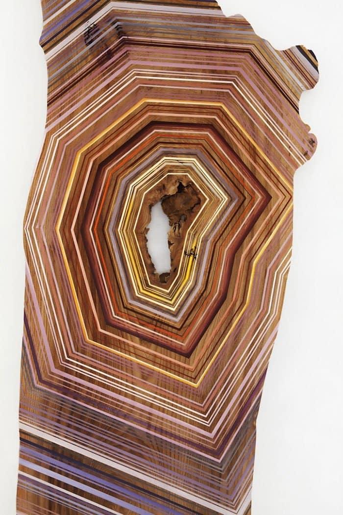 line pattern wood