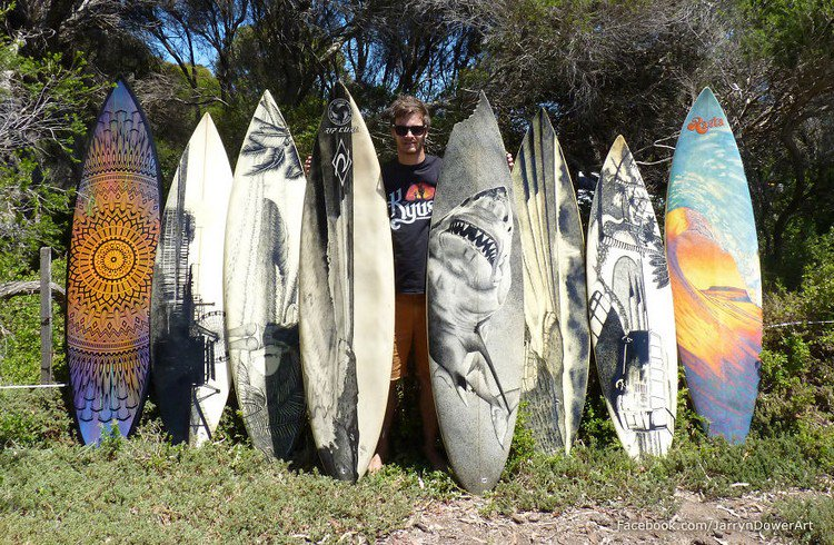 man surfboards