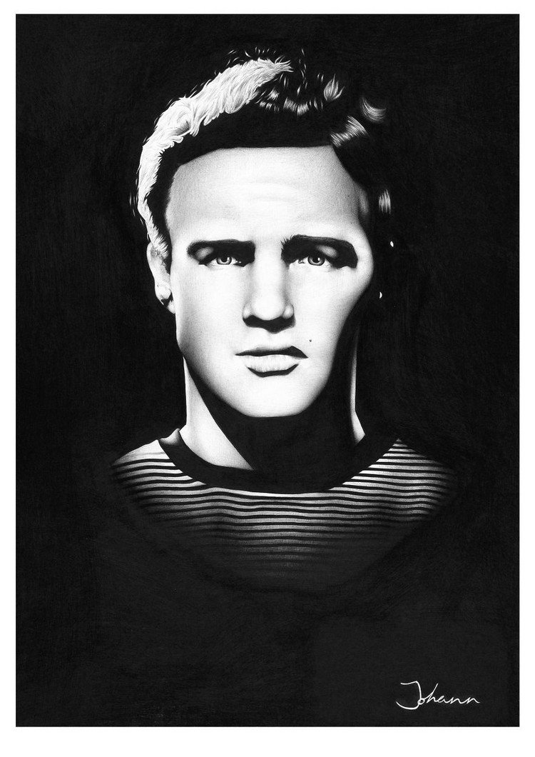 marlon ballpoint portrait