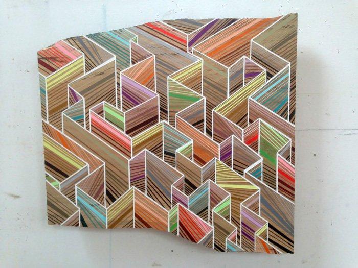 maze pattern wood