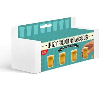 mini pint shot glasses drink box