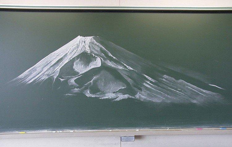 mountain chalk art