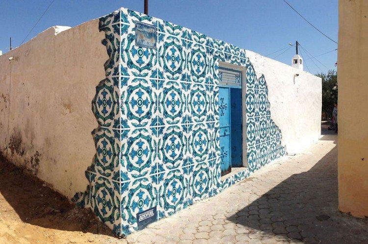 Diogo Machado Creates Ceramic Tile Illusion Street Art In