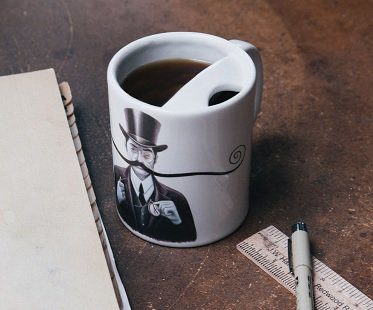 mustache guard mug