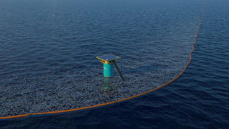 ocean clean up line