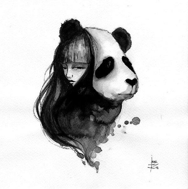panda girl head