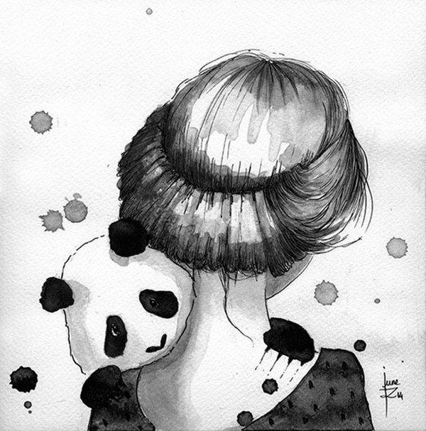 panda girl neck