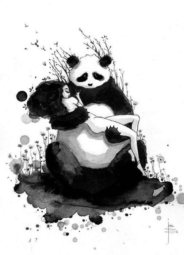 It S Pandamonium June Leeloo Paints Awesome Pandas And