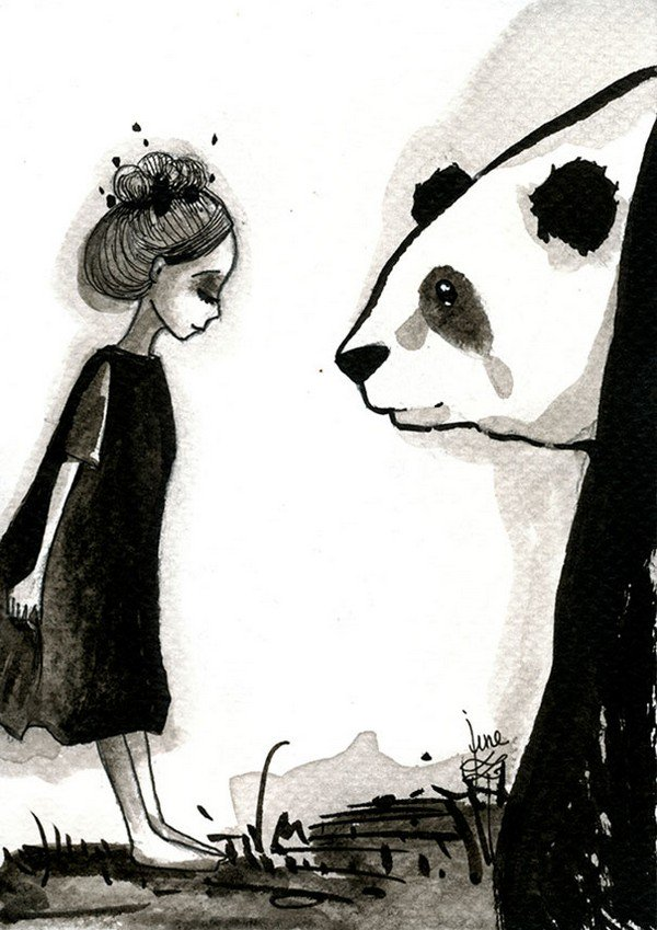panda looking girl