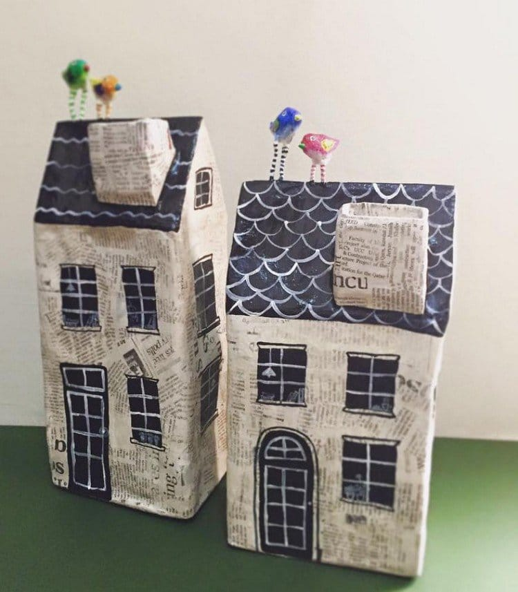 these quirky paper mache houses are so sweet they 39 ll make