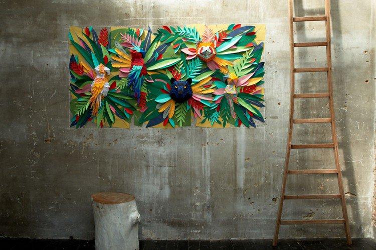 paper mural ladder