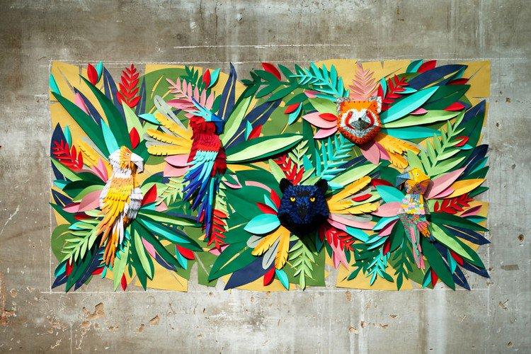 paper mural wall 3D