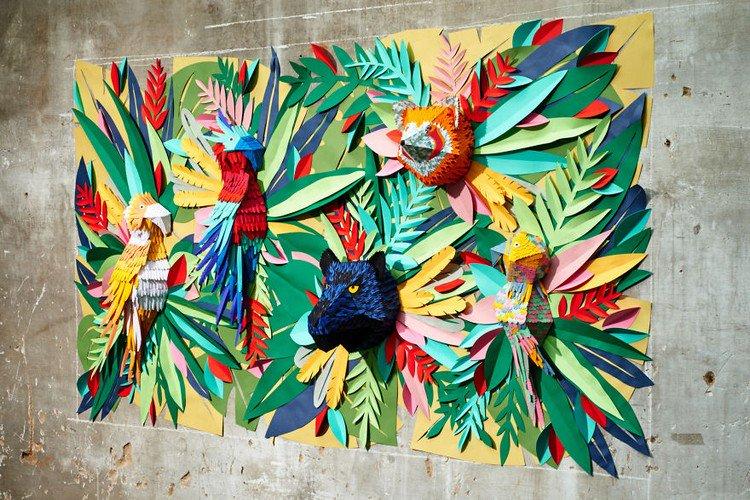 paper mural wall