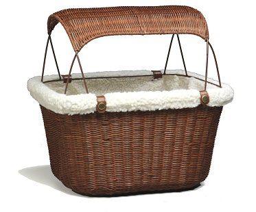 pet bicycle basket wicker