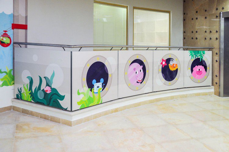 porthole mural