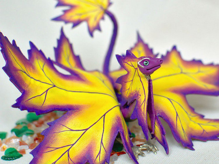 purple yellow dragon
