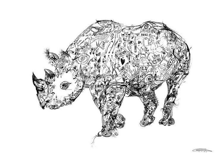 rhino doodles