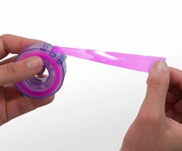 roller skate tape dispenser pink