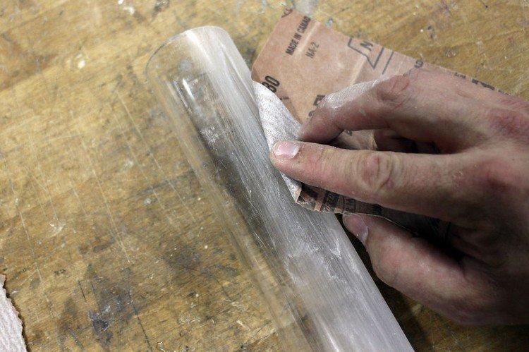 sand plastic tube