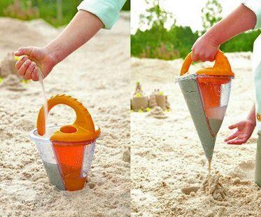 sand spilling funnel beach
